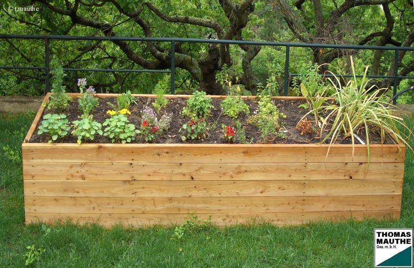 Gartenmobel Set Akazie : Hochbeet aus Lärchenholz